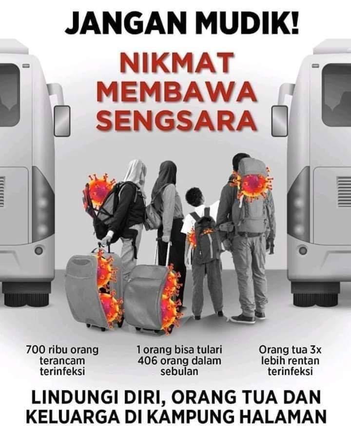 Foto Caption : Ilustrasi Tunda Pulang Kampung.