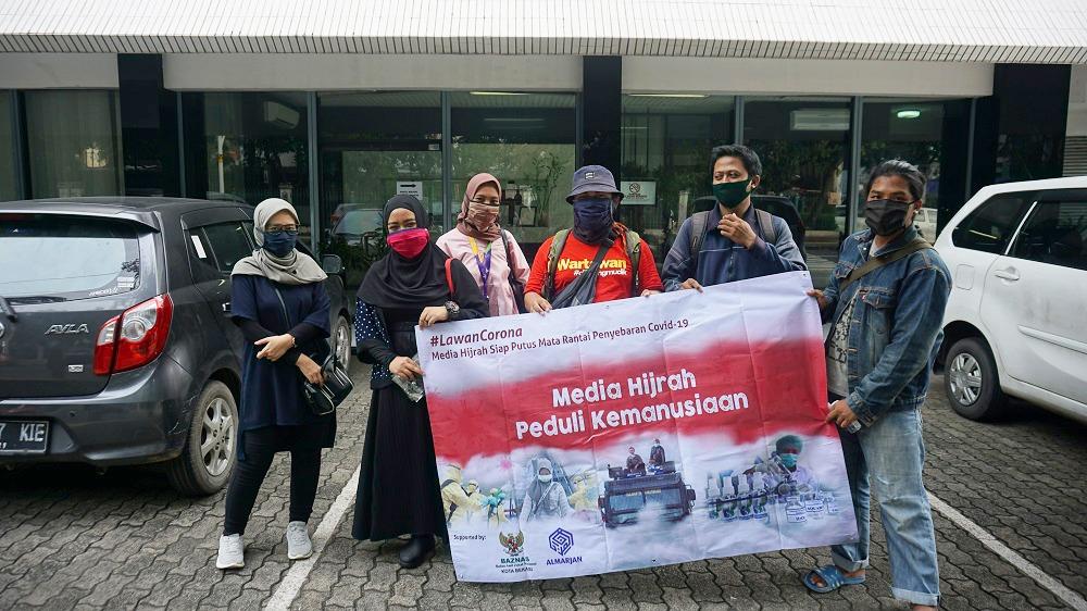Media Hijrah Adakan Aksi Kemanusiaan, Jumat (17/4).