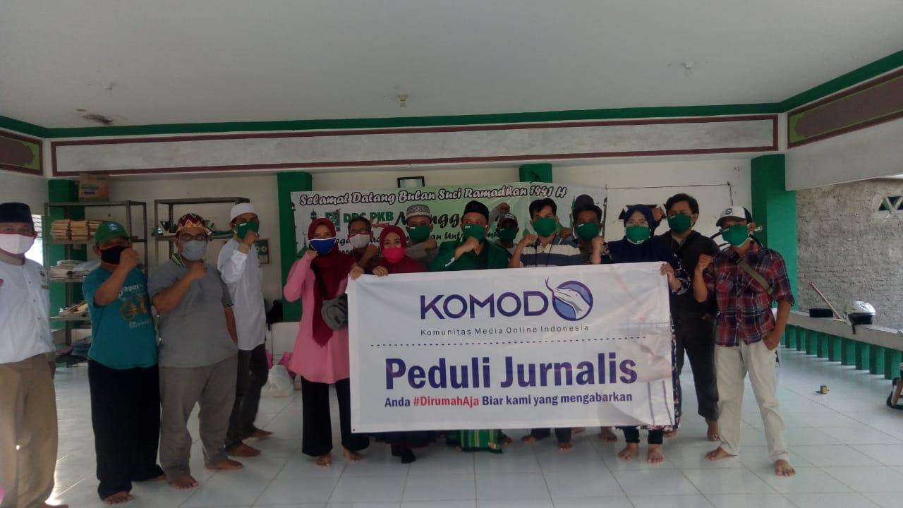 Peduli Jurnalis PKB Helat Munggahan Gandeng KOMODO, Senin, (20/4)