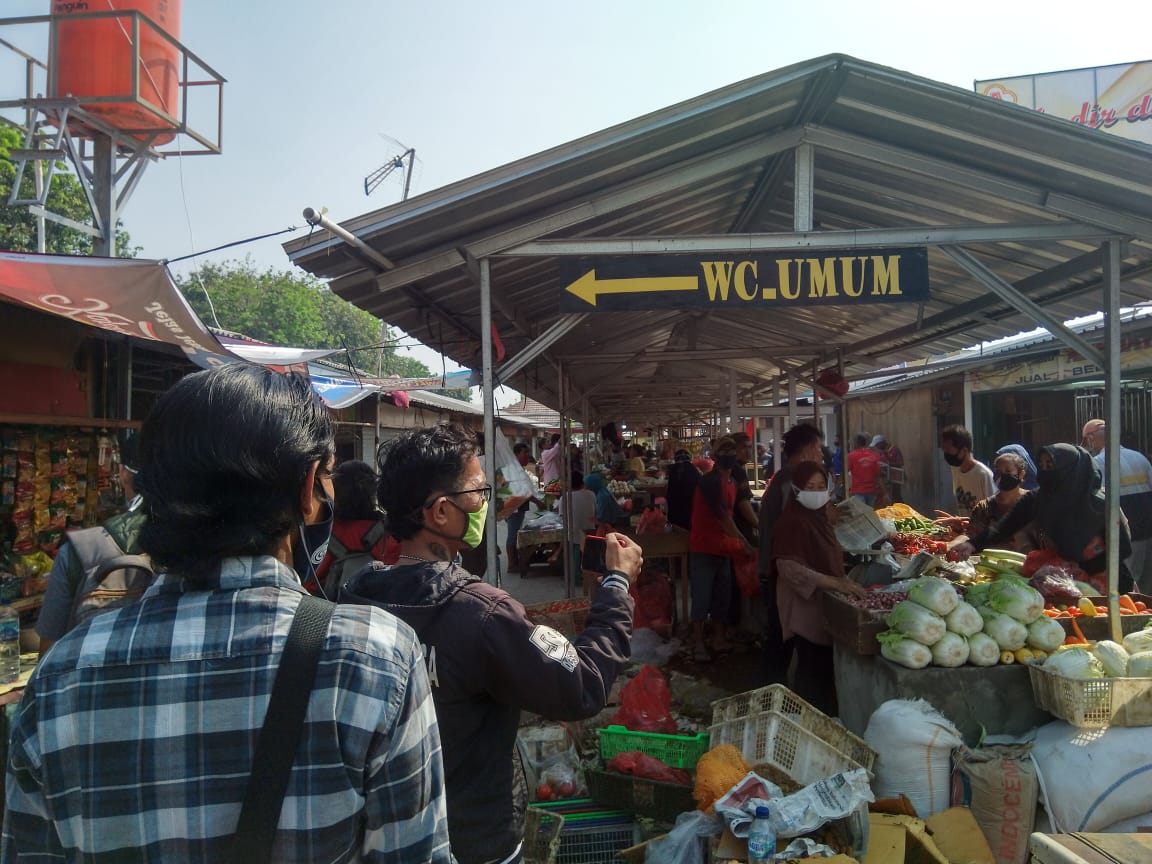 Relokasi Pasar Jatiasih, Senin, (31/8).
