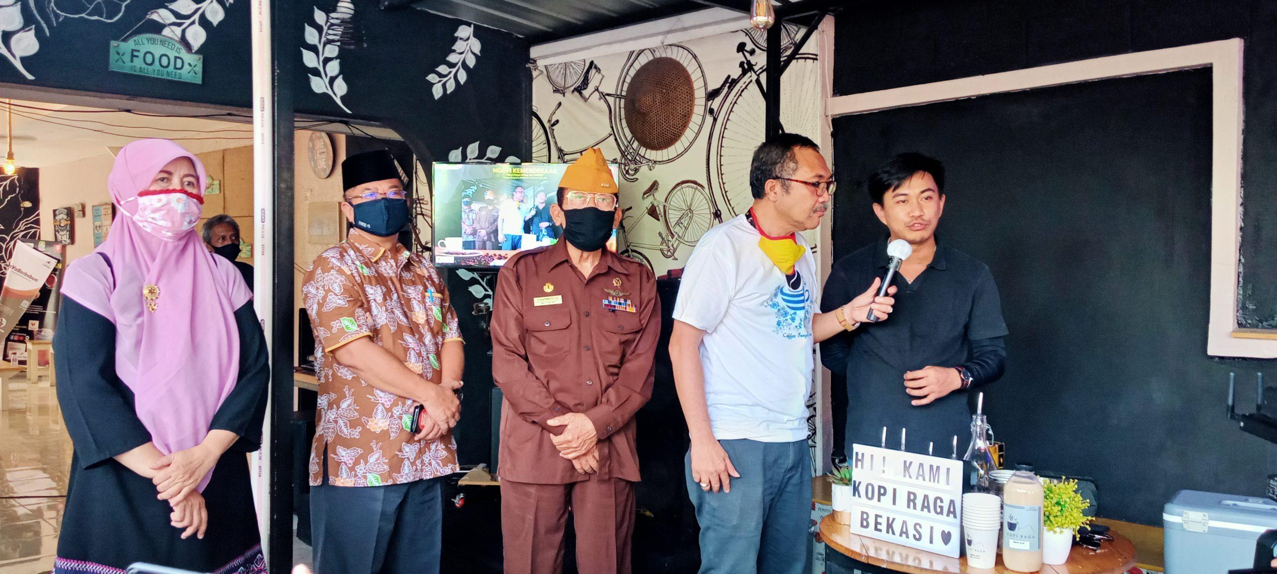 Pemerintah Kota (Pemkot) Bekasi Gandeng Penggiat Usaha Mikro atau Usaha Mikro Kecil, dan Menengah (UMKM) Kopi di Kota Bekasi, Usung Tema Ngopi Kemerdekaan, Minggu, (30/8).