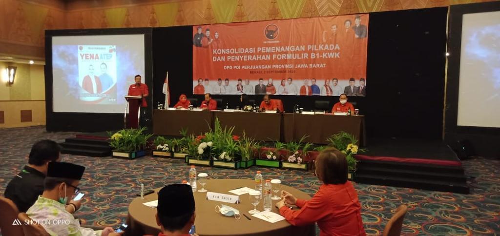 DPD PDI Perjuangan Provinsi Jawa Barat Helat Rapat Konsolidasi Pemenangan Pemilihan Pilkada se-Jawa Barat di Hotel Horison, Bekasi Selatan, Rabu, (2/9).