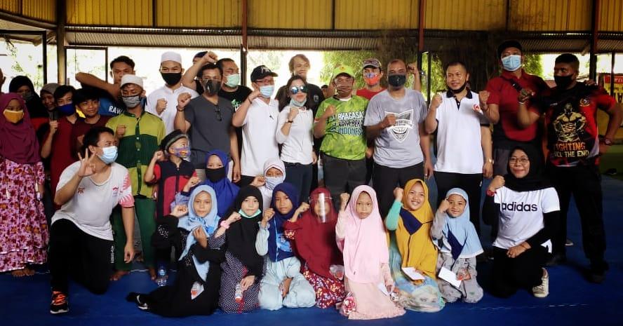IBA MMA, Muaythai, Sambo dan Wushu menempati markas baru atau tempat latihan baru berlokasi di sisi kiri Gedung KONI Kota Bekasi 26/9)