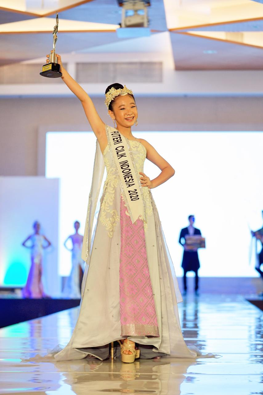 Puteri Cilik Indonesia 2020, Angelique Jenavieve berasal dari Jawa Timur, Senin, (14/12).