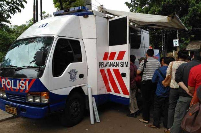 SIM Keliling Kota Bekasi, Senin, (18/1).