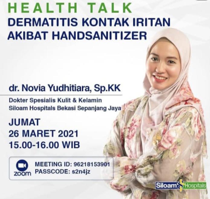 dr. Novia Yudhtiara, Dokter Spesialis Kulit dan Kelamin Siloam Hospitals Sepanjang Jaya