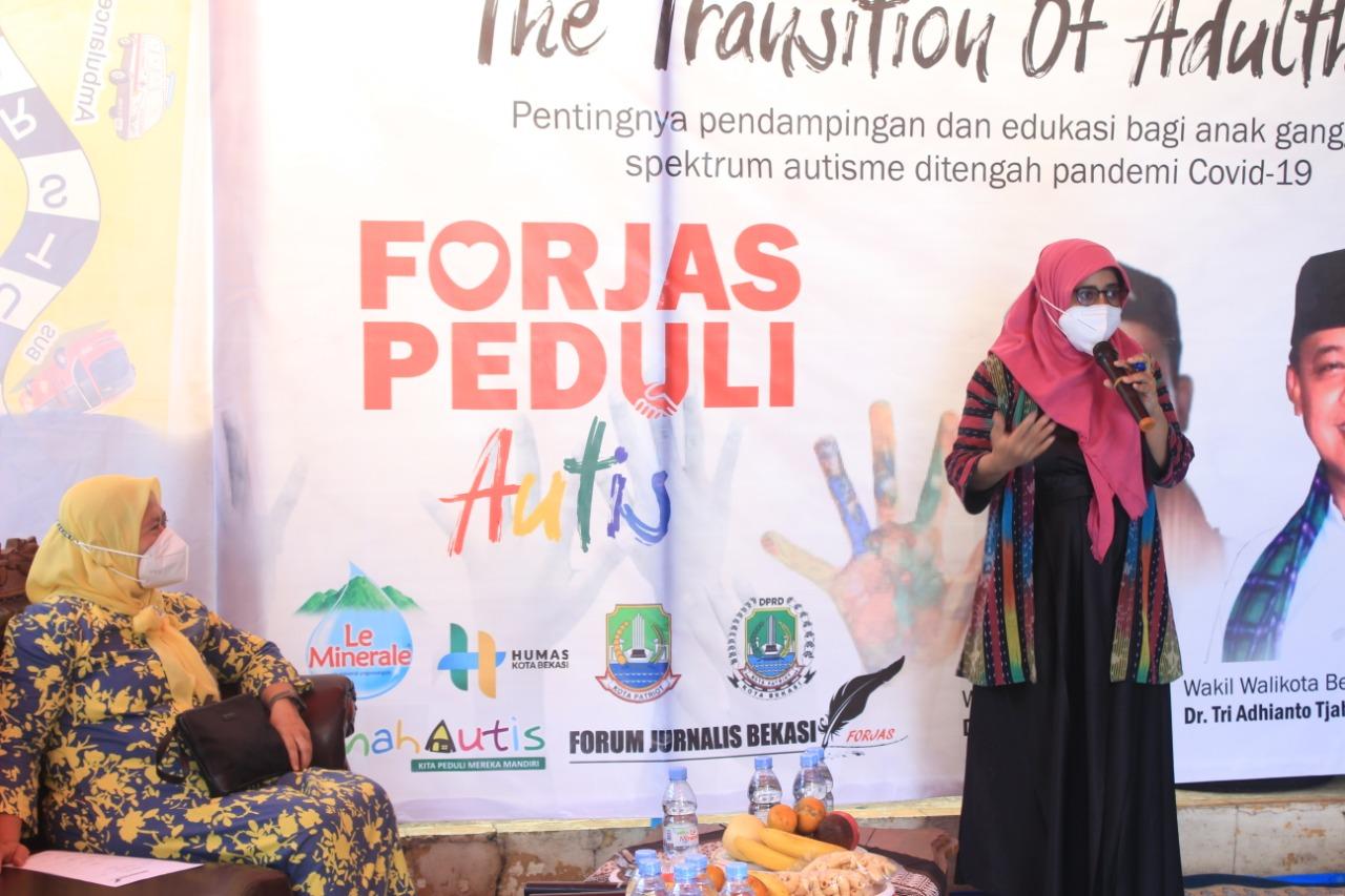 Promosi Kesehatan UPTD Puskesmas Jatiasih, Fitriya, Jumat (2/4).